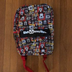 Walt Disney World Canvas Mickey Mouse Backpack